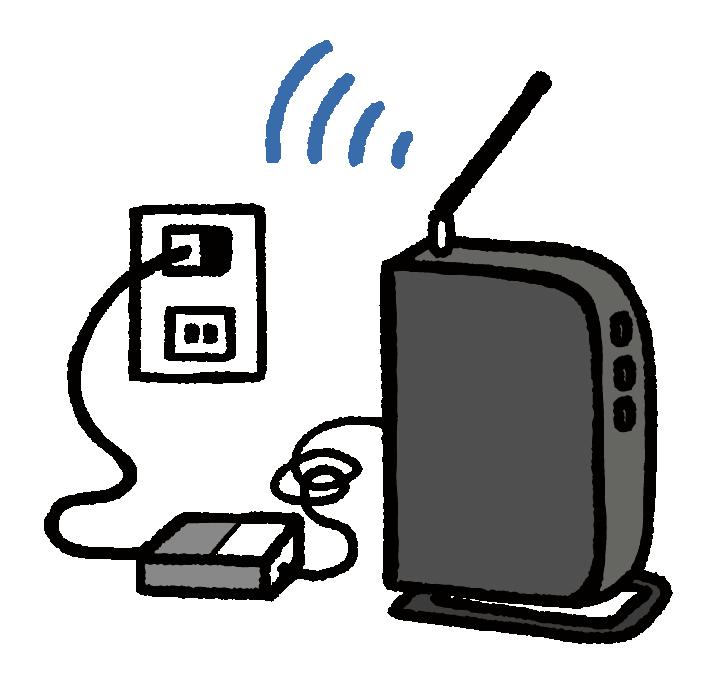 Wi-Fi(ワイファイ)ルーターの設置